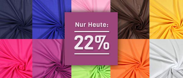 Nur heute: 22% Rabatt auf Chiffon beis stoffe.de