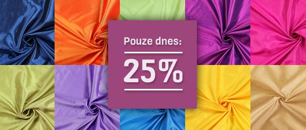 Pouze dnes: 25% Taft Dupion latka.cz