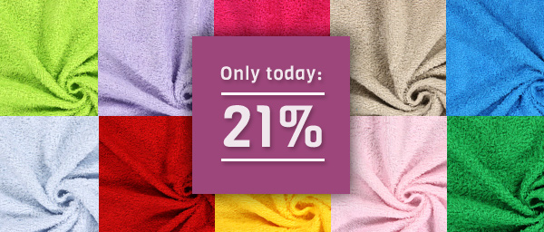 Only today: 21% off on Terrycloth myfabrics.co.uk