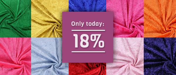 Only today: 18% off on Panne Velvet myfabrics.co.uk