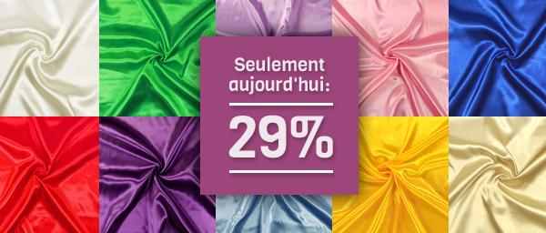 Seulement aujourd'hui: 29% Satin de mariée tissus.net