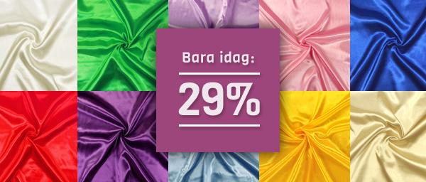 Bara idag: 29% Brudsatin tyg.se