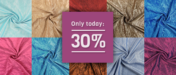 Only today: 30% off on Taffeta Medium Crash myfabrics.co.uk