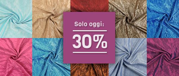 Solo oggi: 30% Taffettà Medium Crash tessuti.com