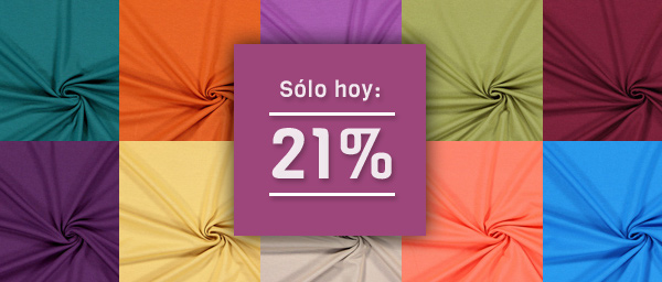 Sólo hoy: 21% Jersey de viscosa Light telas.es
