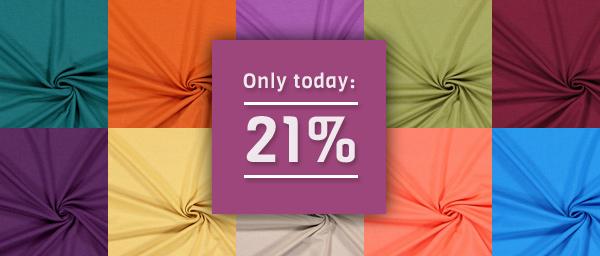 Only today: 21% off on Viscose Jersey Light myfabrics.co.uk