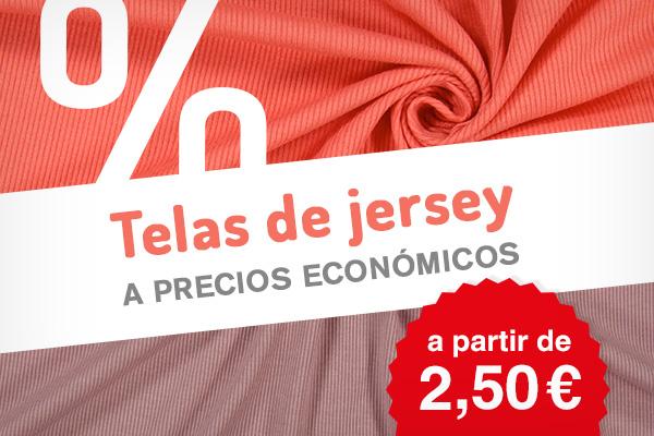 Más de 250 telas de jersey a precios reducidos en muchos colores y diseños diferentes, ¡Aprovecha esta oportunidad!