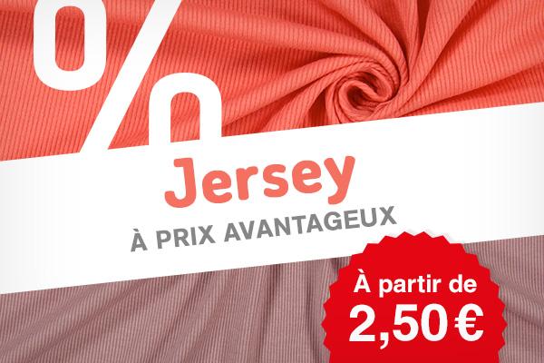 Plus de 250 jerseys à prix réduit dans de nombreux motifs et couleurs - à ne pas manquer !
