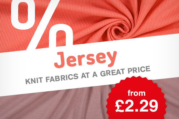 Over 250 discounted jersey fabrics in a variety of colours and motifs – Go for it now!