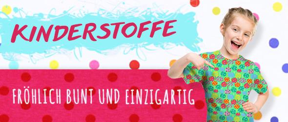Fröhliche Kinderstoffe für glückliche Kids - das gibt es bei stoffe.de!