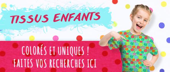 Des tissus enfants colorés pour des enfants heureux - c'est possible sur tissus.net !