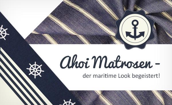 Hier findest du Bekleidungsstoffe im maritimen Stil für deine Nähprojekte.