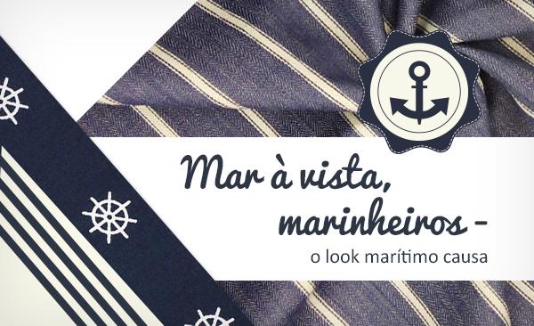 Aqui encontra tecidos para vestuário com estilo marítimo para os seus projetos de costura.