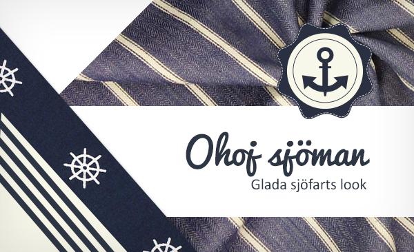 Här hittar du tyger till kläder med maritim tema till dina sömnadsprojekt.