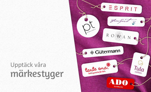 Dekorations- och klädtyger från välkända märken på tyg.se
