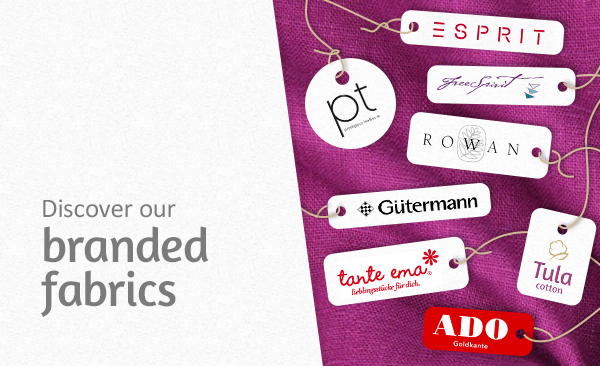 From Esprit to Gütermann – branded fabrics at myfabrics.co.uk
