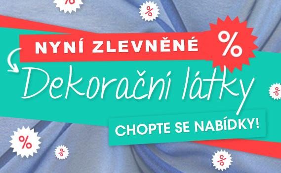 Sleva až 80 % - dekorační látky na latka.cz