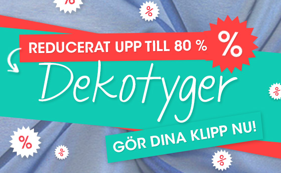 Upp till 80% rabatt-dekorativa tyger hos tyg.se