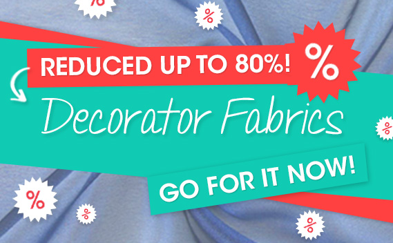 Reduced by up to 80% – Furnishing fabrics at myfabrics.co.uk