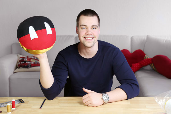 Mein erstes Nähprojekt: Countryball-Kissen Deutschland