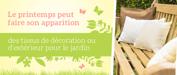 Donner du peps aux meubles de jardin - avec des housses en tissu d'extérieur de tissus.net