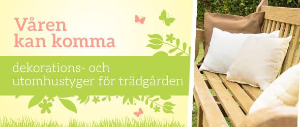 Peppa upp dina trädgårdsmöbler – klä dem i utomhus tyger från tyg.se