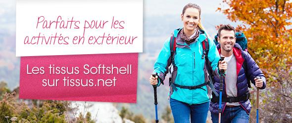 Des tissus de Softshell dans de nombreuses couleurs sur tissus.net