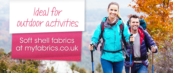 Soft shell fabrics in a variety of colours at myfabrics.co.uk