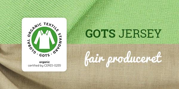 Produceret i Tyskland og GOTS-certificeret - jerseystoffer