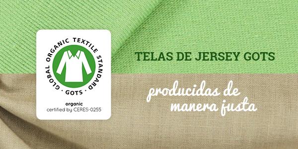 Telas de jersey, producidas en Alemania y con certificación GOTS