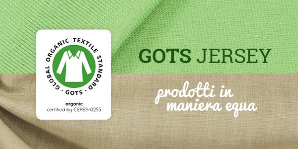 Tessuti jersey: prodotti in Germania e certificati GOTS