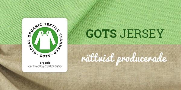 Producerade i Tyskland och GOTS-certifierade - jerseytyger
