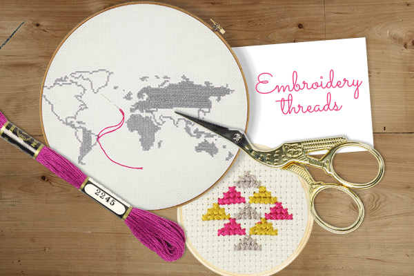 Discover more than 400 shades of embroidery thread at myfabrics.co.uk