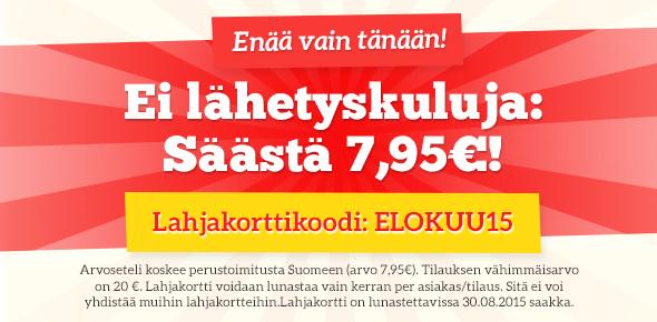 Lähetyskulukampanja kankaita.comissa - säästä nyt lähetyskulut vielä tänään