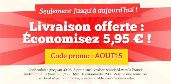 Promotion sur les envois sur tissus.net - économisez les frais d'envoi jusqu'à ce soir