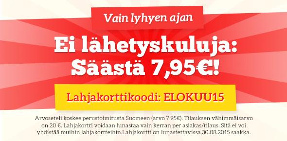 Lähetyskulukampanja kankaita.comissa - säästä nyt lähetyskulut