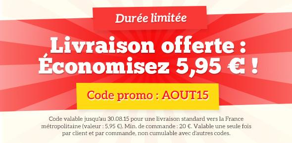 Promotion sur les envois sur tissus.net - économisez dès maintenant les frais d'envoi