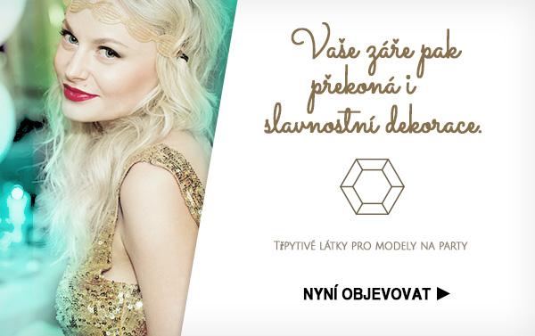Pro všechny ty, kteří nemají lesku nikdy dost - lesklé látky na latka.cz