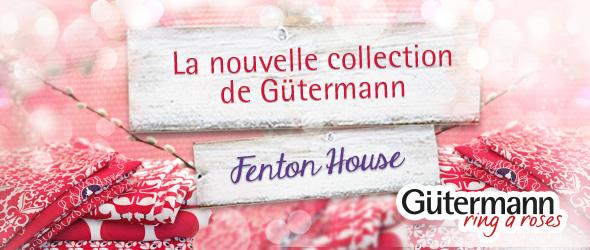 Tissus, rubans, boutons  - nouvelle collection «Fenton House» de «ring a roses» chez «Gütermann»