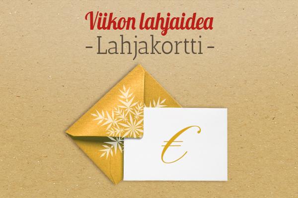 kankaita.comin suositus: Lahjakortti lahjaideana