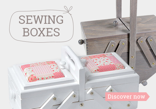 Discover the range of sewing boxes at myfabrics.co.uk now!