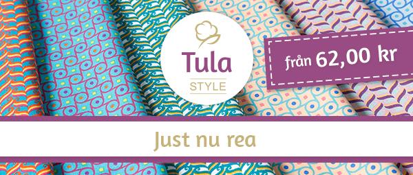 Erbjudande just nu på Tula Style för kr 62 per meter!