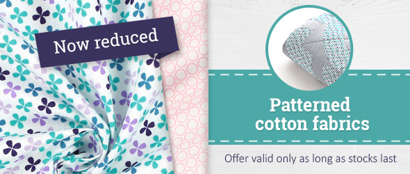 Discounted for a short time only: cotton fabrics with motifs