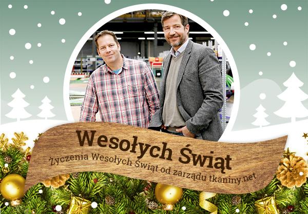 Wesołych Świąt Bożego Narodzenia 2015 życzy sklep tkaniny.net