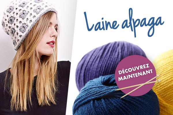 Laine Alpaga sur tissus.net - qualité haut de gamme à un prix attractif