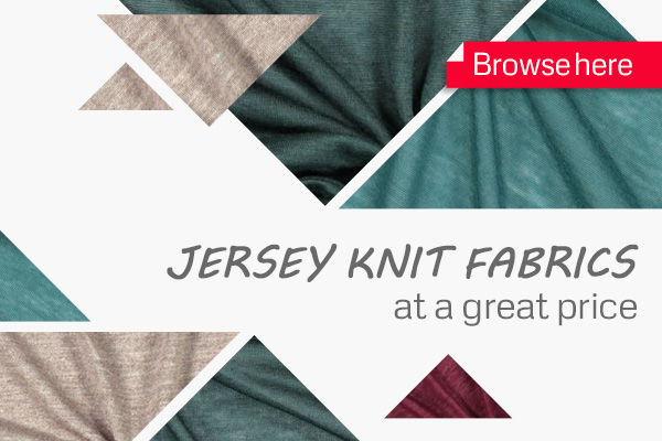 The discounted jersey fabrics at myfabrics.co.uk are easy-to-wear and so comfortable