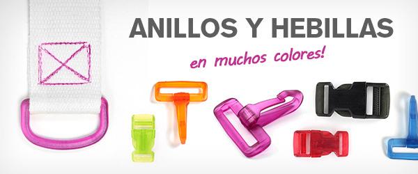 En telas.es contamos con accesorios para bolsos en diversos colores: rojo, amarillo y verde.