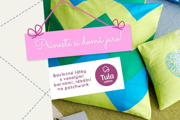 Bavlněné látky v jarních barvách - objevte Tula Cotton