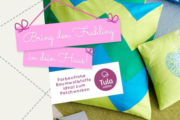 Baumwollstoffe in Frühlingsfarben - entdecke Tula Cotton