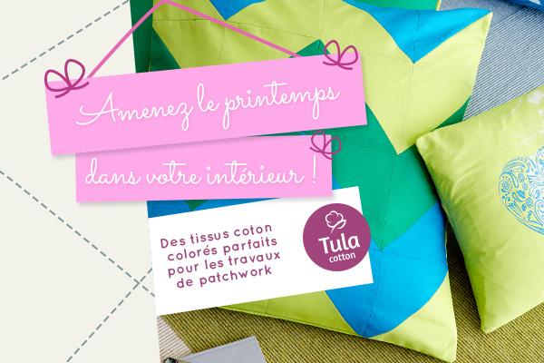 Tissus en coton dans des couleurs printanières - découvrez Tula Cotton